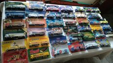 Collection brewery trucks and advertising trucks, some rarities, in original packaging, 100 pieces