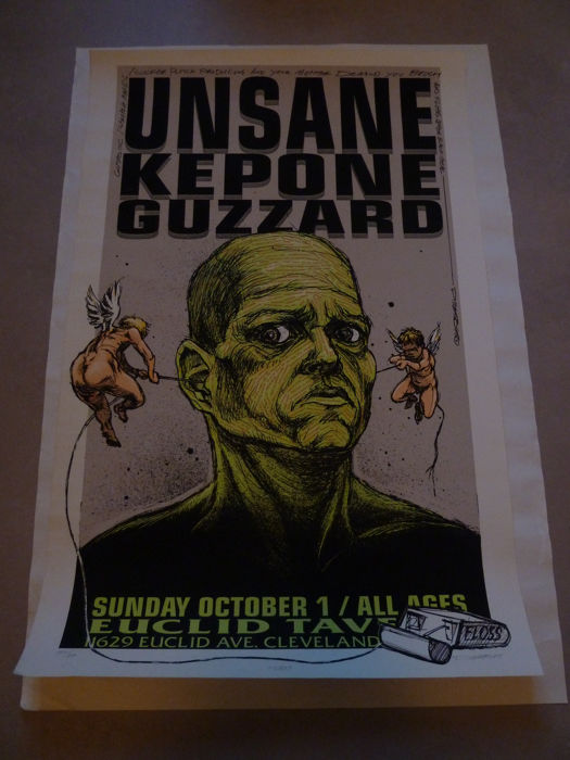 Collection of band, album en tour posters, including art work from Derek Hess