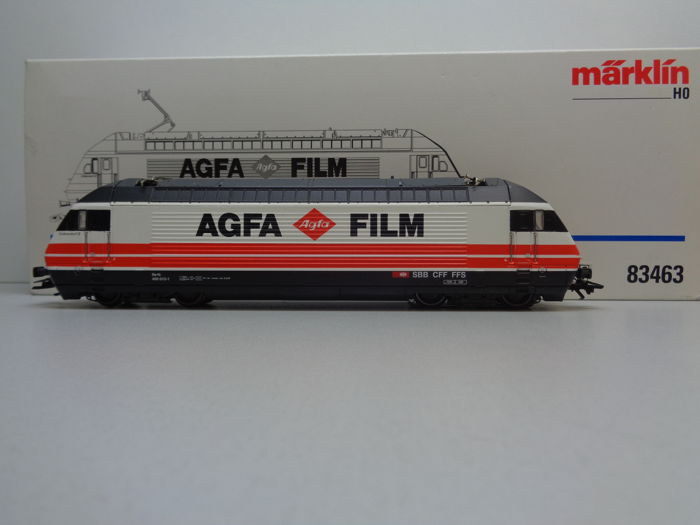"Märklin H0 - 83463 - Electric locomotive - Re 4/4 Serie 460 met ""Agfa en Film""  - SBB-CFF"