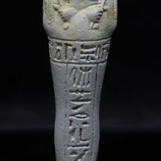 Egyptian faience Ushabti for the priest of Smentet Padiusir - 13,8 cm