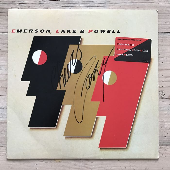 Emerson, Lake & Powell :Exclusive promo signed by Cozy Powell