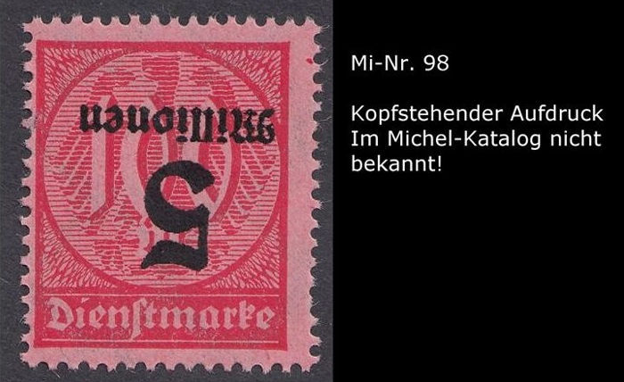 German Reich 1920 - collection of printing flaws