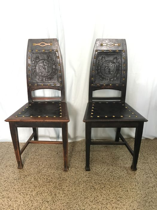 Pair of Art Deco Chairs, Dutch, circa 1920