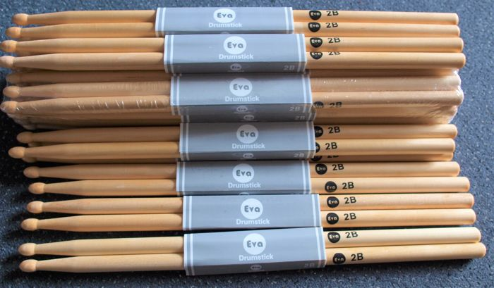 New Wood Tip 2B EVA drumsticks with wooden tip, 24 pairs