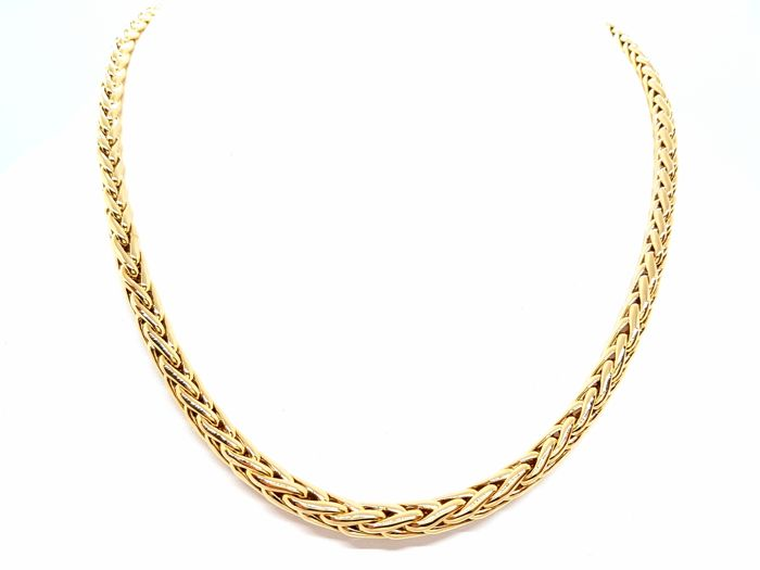 Necklace - 18 kt yellow gold - Palm link - 57 cm