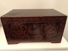 Lacquered Sewing Box - China - early/mid 20th Century