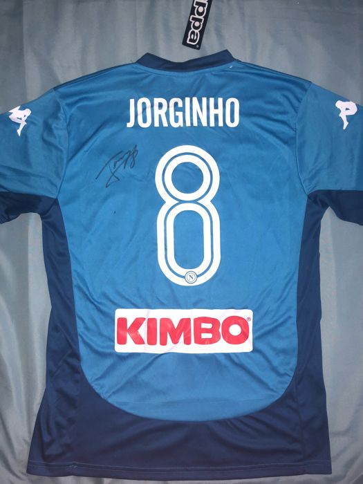 super popular 256bc f78de Jorginho Hand Signed SSC Napoli Home shirt Proof - Catawiki