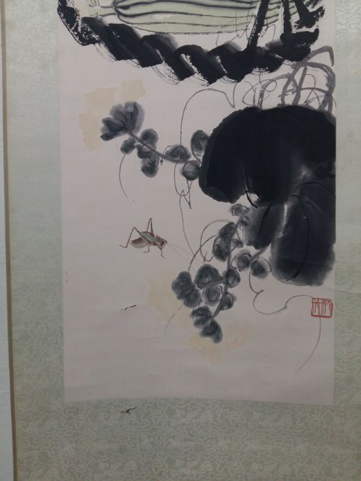 Qi Baishi Painting, woodblock watermark print by Duo Yunxuan, Shanghai , late 20th c