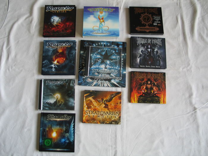 Lot of Stratovarius , Cradle of Filth and Rhapsody.