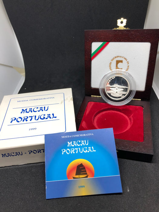 Portugal - Republica - 500 Escudos - Entrega de Macau à China - 1999 - Proof - Silver