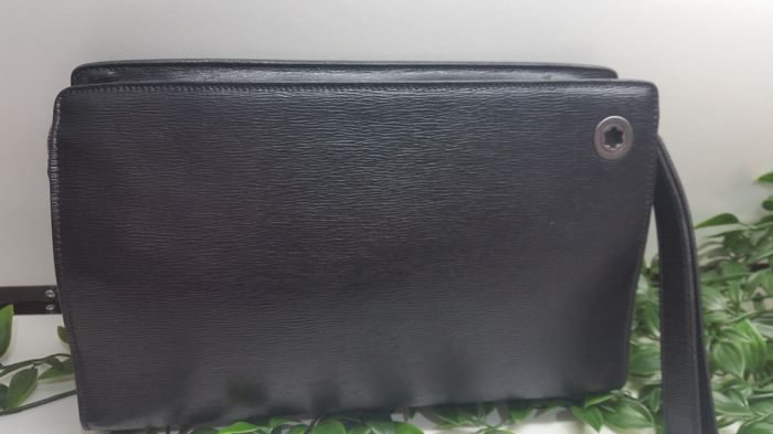Montblanc handbag in black leather