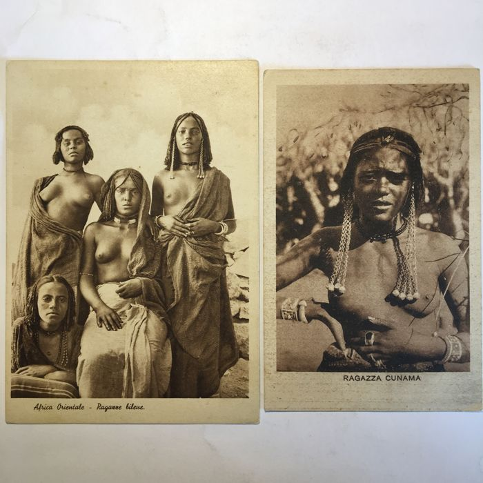 Lot of 34 postcards of the Italian colonies in Africa - African women