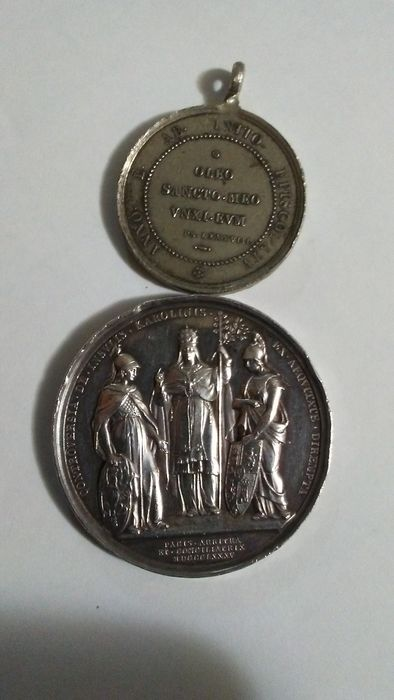 Papal State - Lot of 2 silver medals from the reign of Pope Leo XIII