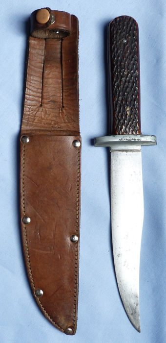 Original English Sheffield William Rodgers Hunting Knife and