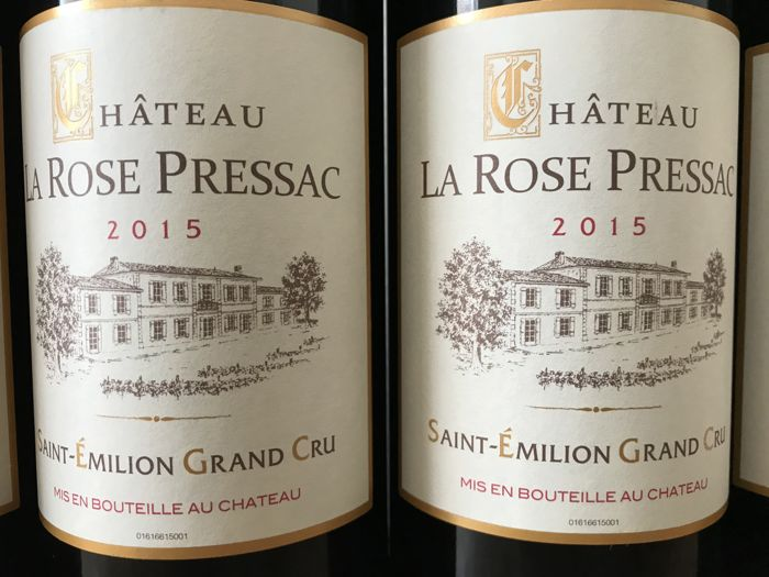 2015 Château La Rose Pressac, Saint-Émilion Grand Cru  / Total 6 Bottles
