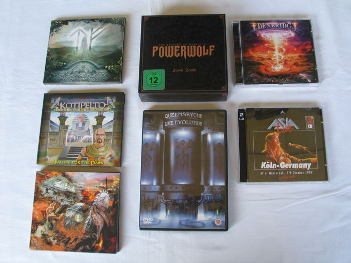 Lot of Hardrock & heavy metal ( CD's & DVD's )