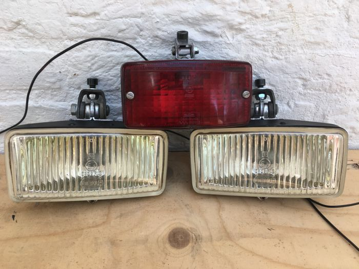 Hella auxiliary lights set 8336 R19 E1 for Rally design classic cars