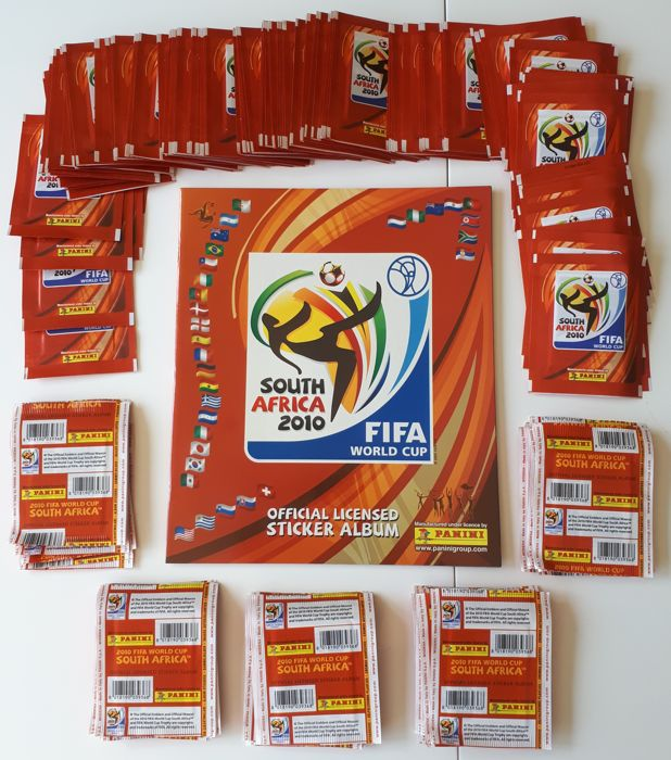 Panini - World Cup 2010 South Africa - 1 original empty album South American version - Plus 150 unopened original packets