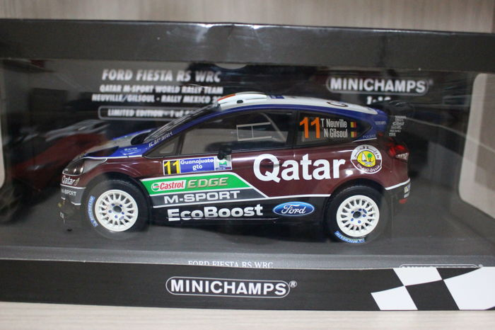 Ford Fiesta RS WRC Thierry Neuville Rallye Mexico 2013 1:18 Minichamps 151130811