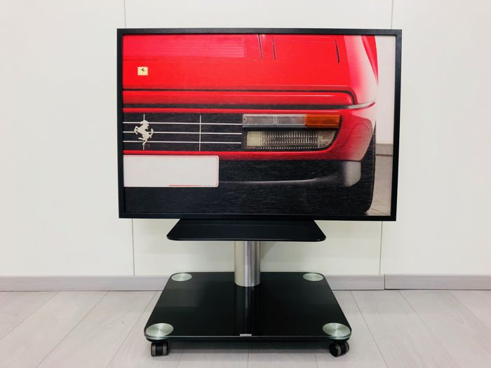 ART - Wooden Panel and Real light of a Ferrari 328