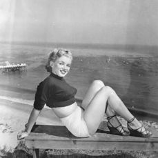 J.R. Eyerman - Marilyn Monroe, at Paradise Cove, 1950