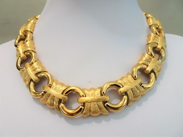 gold for gorgoues great vintage l at designer heavy chain v link necklace givenchy necklaces this jewelry id is s a sale