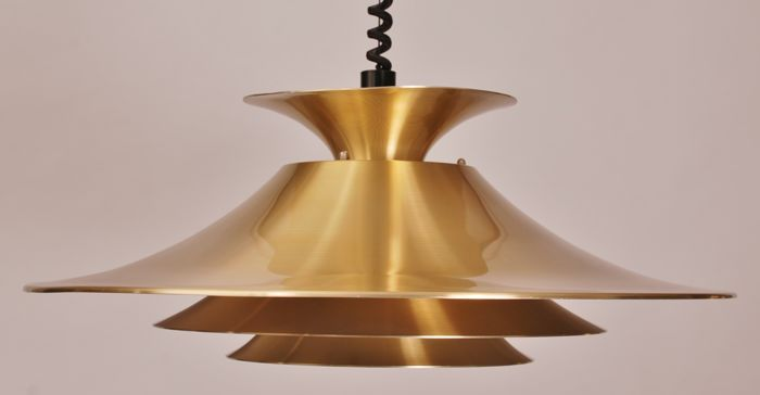 Designer and manufacturer unknown brass height adjustable ceiling designer and manufacturer unknown brass height adjustable ceiling lamp mozeypictures Choice Image