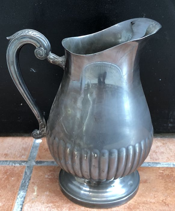 Very Important XIX century CHRISTOFLE silver plated COLL GALLIA milk jug Ca 1900