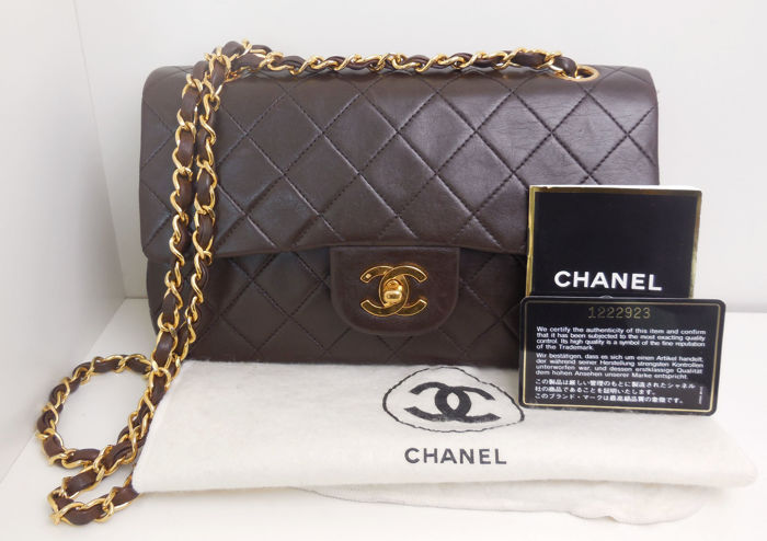 Chanel - Timeless 2.55 double flap + card, dustbag, booklet Sac en  bandoulière - bc581b688e5