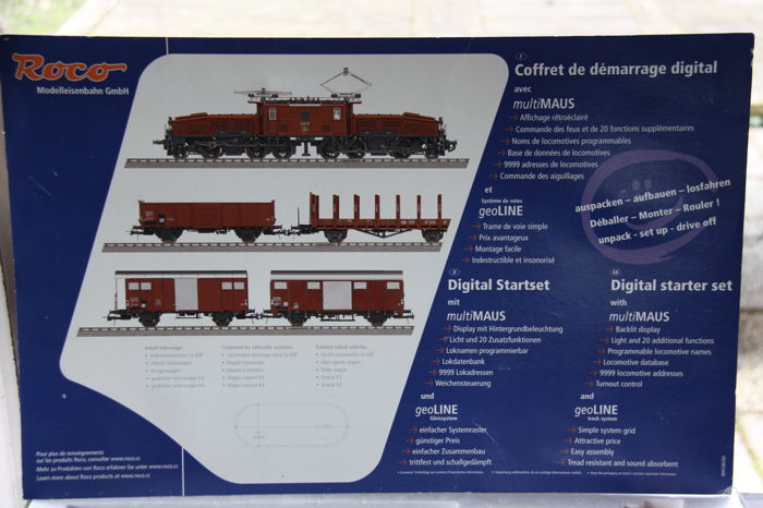 Roco H0 - 41280 - Train unit - complete digital starter set with extra rails - SBB-CFF