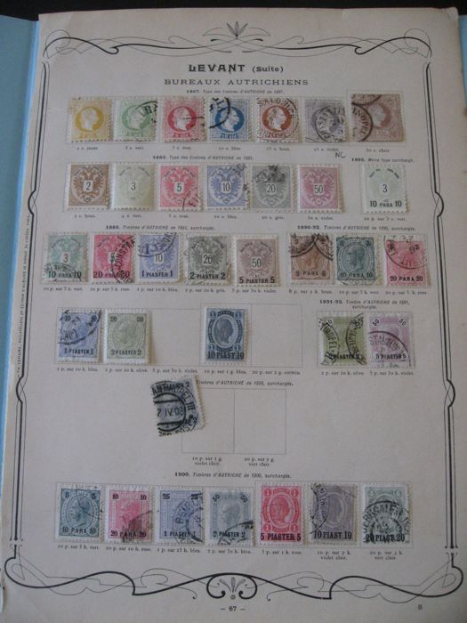 Austrian offices in the Levant 1867/1907 - nearly-complete stamp collection
