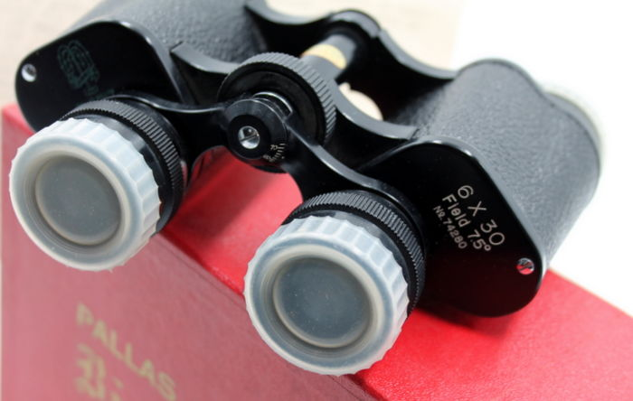 PALLAS WILLOW Binoculars 6x30 - made in JAPAN - 1970 Original high-quality prismatic binoculars - Field 75th - New, from a optical store in Milan