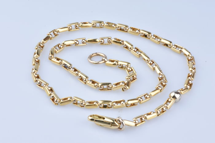 SAURO necklace in 18 kt two-tone gold (750/1000)