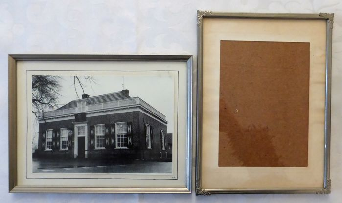 Lot of twelve antique and old photo frames - small and large ...