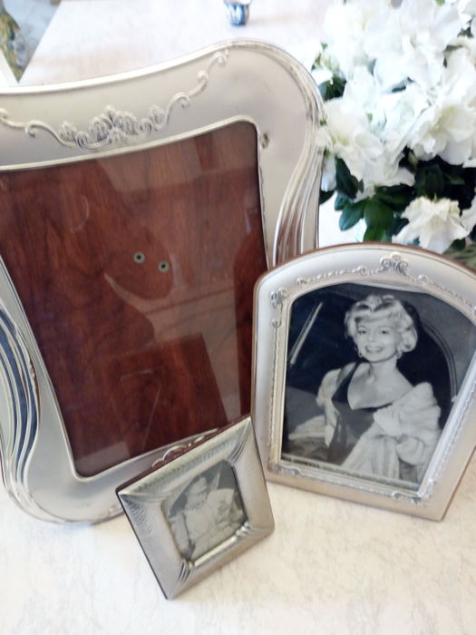 3 vintage tabletop picture frames in 925 silver
