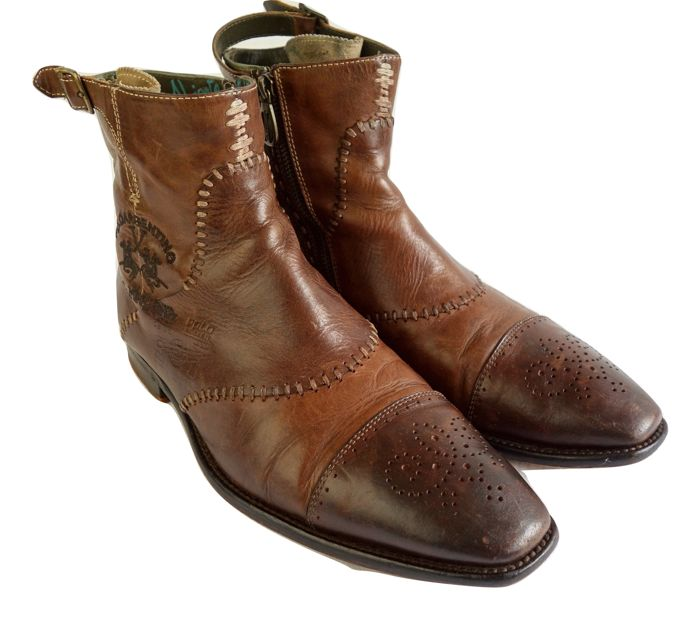 1d8581245b04 La Martina - Leather ankle boots - Catawiki