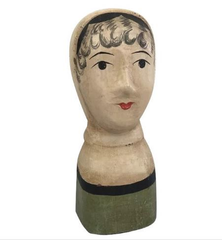 A cast and painted paper-mâché marotte head - France - 20th century