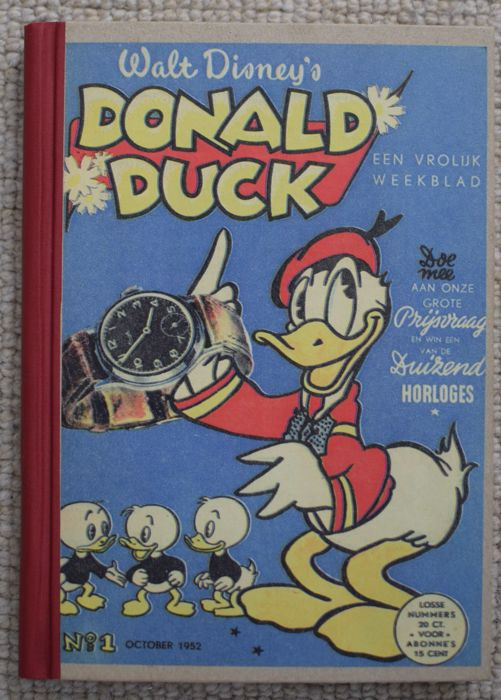Donald Duck Weekblad - Complete 1st year in private binding - 1xhc - 1st edition (1952)