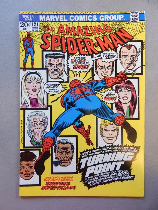 Marvel Comics - Amazing Spider-Man #121- with Death of Gwen Stacy - High Grade - Key Book!! - 1x sc - (1973)