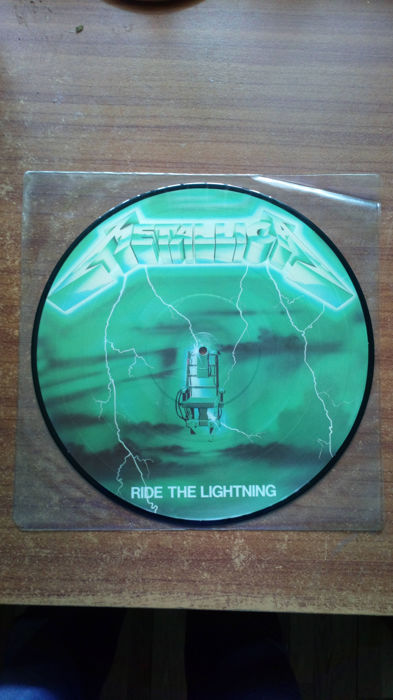 Metallica Ride the Lightning Picture Disc 'GREEN' No. 219 of 300