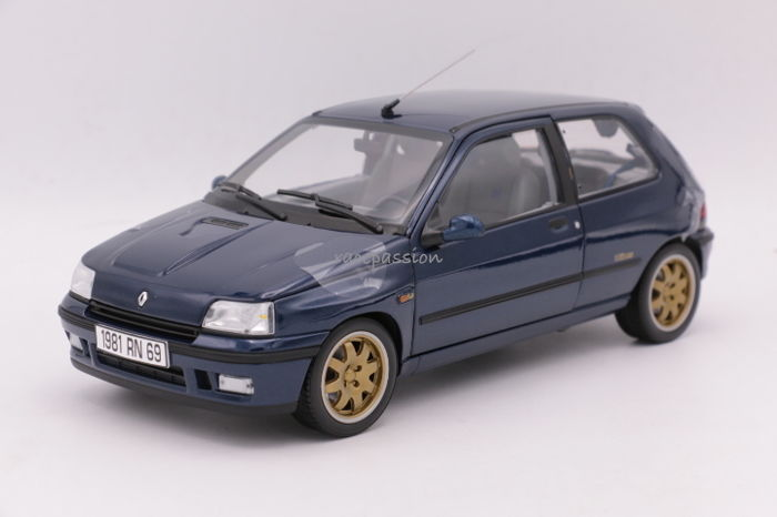 norev 1 18 renault clio williams schaal 1 18 color blue catawiki. Black Bedroom Furniture Sets. Home Design Ideas