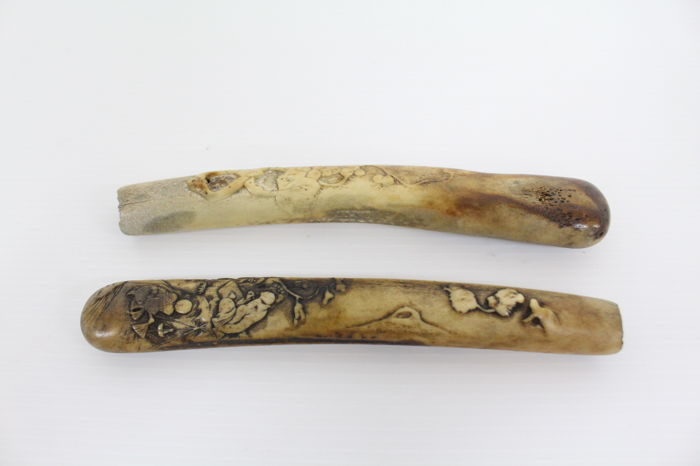 Finely Carved Bone Tobacco Pipe Case Japan Early 20th Catawiki