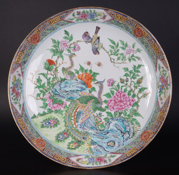Very large Canton porcelain dish, 36 cm - China - early 20th century (Republic period)