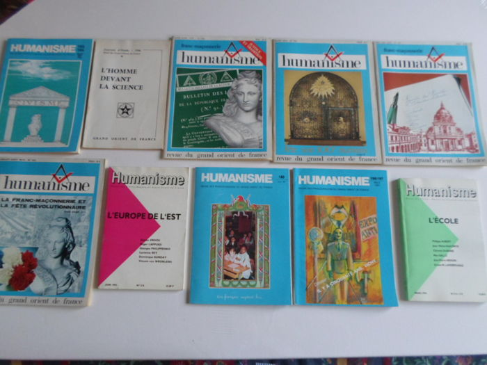 Lot of 10 masonic magazines of the Grand Orient of France