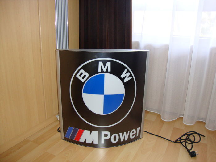 BMW Mpower - Big lichtbox - Aluminium - Dealer sign - 21 century