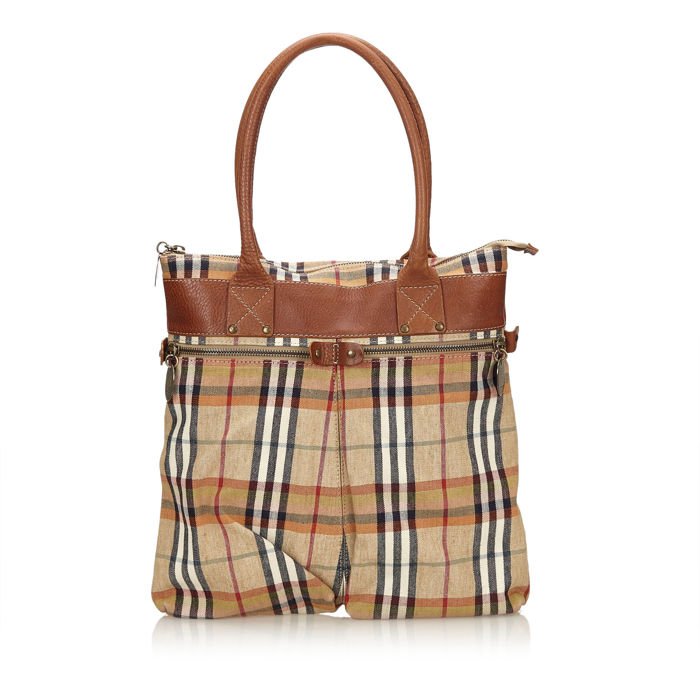 Burberry - Plaid Jacquard Tote Bag