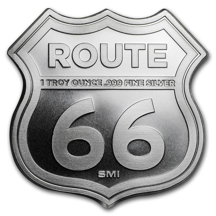 United States - Medallion,  'Sunshine Minting/Icons of Route 66 - Illinois Gemini Giant', First Edition - 1 oz 999 Silver