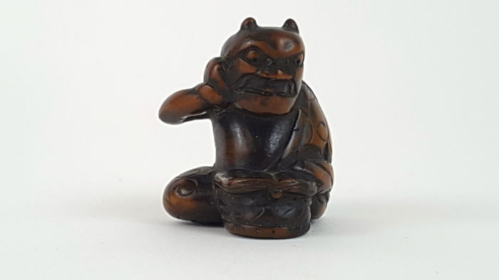 Wooden Netsuke of ONI - Japan - ca. 1900 (Meiji period)