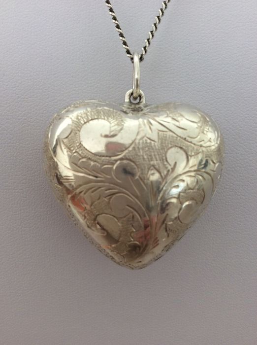 Necklace with a large heart pendant silver 835 and 9251000 necklace with a large heart pendant silver 835 and 9251000 aloadofball Choice Image