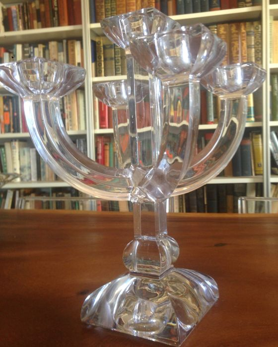 villeroy boch 5 arm crystal candle holder candelabra nearly